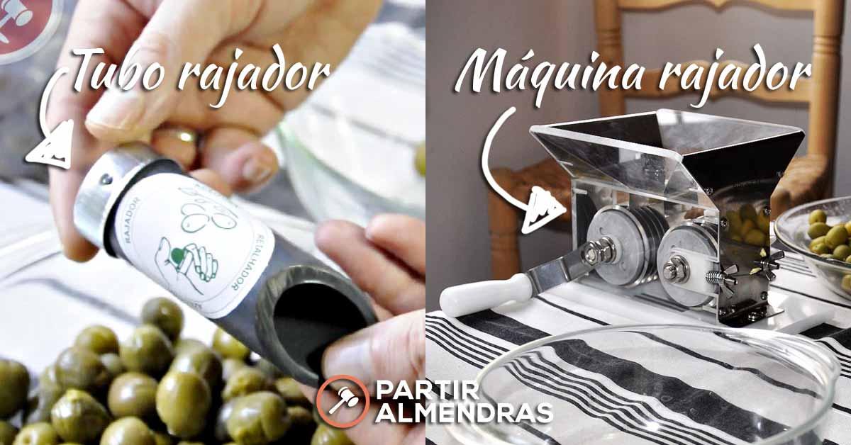 Máquinas para rajar olivas de forma manual